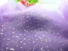"1yd/10yd 60""Tulle tutu sewing sequin fabric wedding bridal decoration DIY"