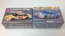 Lot of 2 Race Car Model Kits Country Time Olds/Cartoon Network Wacky racing