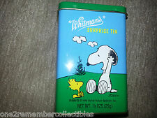 WHITMANS 1997 Keepsake Surprise Tin Can PEANUTS Woodstock SNOOPY Vintage SCHULZ