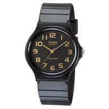 Casio Men's Black Resin Watch, Analog, Water Resistant, MQ24-1B2
