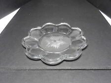 "Jefferson Krys-Tol Chippendale Plate Clear Crystal 6 3/4"" D ca1907-20s"