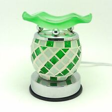 Electric Scented Oil Warmer Lamp Wax Tart Burner Fragrance Diffuser Green Tile