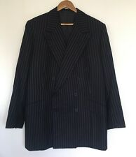 MENS VINTAGE GIEVES & HAWKES PINSTRIPE WOOL DOUBLE BREASTED JACKET BLAZER C190