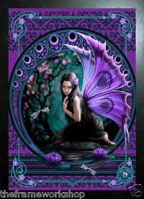 ANNE STOKES BLACK FRAMED NAIAD PURPLE FAIRY - 3D MOVING PICTURE 300 x 400mm