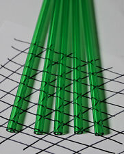 """2 PIECES CLEAR GREEN ACRYLIC PLEXIGLASS LUCITE TUBES 1/2"""" OD 1/4"""" ID x 36"""" LONG"""