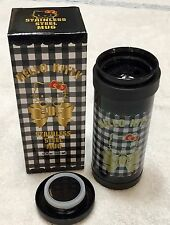 NWT Sanrio Hello Kitty Stainless Steel Mug in Ribbon Pattern Hot & Cold Rare NEW