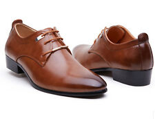Men's Casual Leather Lace Up Wedding Formal Dress Oxfords Shoes Brown US8 M37