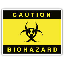 CAUTION BIOHAZARD ADESIVO 100mm x 70mm ratlook, xombie, mr oil can