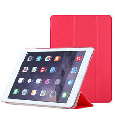 2x Pellicola+Custodia smart cover ROSSA per Apple iPad Air 2 2014 case stand RED