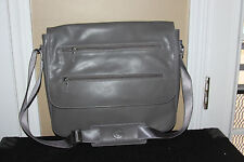GUESS GREY  SATCHEL CROSSBODY MESSENGER organizer/laptop tablet bag handbag