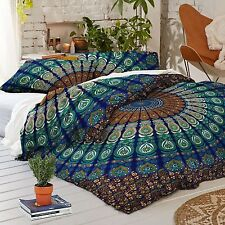 Soft Bedding Duvet Cover Set Style Bohemian Boho Chic Mandala 100% Cotton Queen