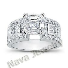 2.78 Ct. Asscher Cut Diamond Engagement Ring VS1-F GIA Certified
