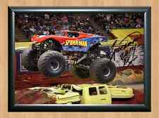 SPIDER MAN Bari Musawwir Monster Jam Truck Signed Autographed A4 Photo Print