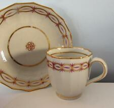 Antique 18thC New Hall Gilded Cup and Saucer Circa 1790