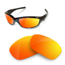 Polarized Replacement Lenses for Oakley Straight Jacket fire iridium color