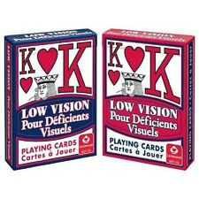 2 Decks Cartamundi Low Vision Playing Cards Easy to See Read Large Print New