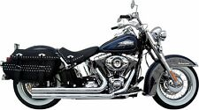 Samson Chrome Legend Cannons 2 1/2 Exhaust Pipes Shields Harley Softail 12-2016