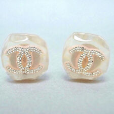 Authentic CHANEL CHIC Pink CC Logo clip on Earrings France