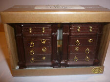 DOLLS HOUSE SET OF MAHOGANY BEDSIDE TABLES 12TH SCALE NEW 76-178