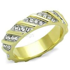 14K GOLD EP WOMENS DIAMOND SIMULATED RING size 7 or O other sizes available
