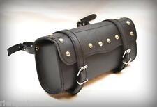 Sacoche de fourche / sac trousse à outils Cuir Rectangulaire Clous moto custom