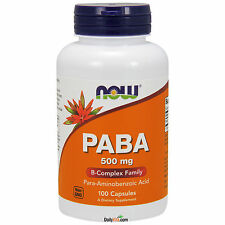 NOW® PABA 500mg (Para-aminobenzoic Acid) - 100 Caps