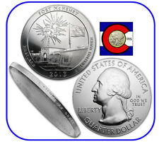 2013 Fort McHenry MD 5 oz Silver America the Beautiful (ATB) Coin in airtite