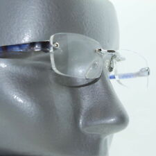 Frameless Blue Red Electro Tech Low Profile Big City Reading Glasses +1.75