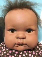 Berenguer Very Cute Baby Girl African American Doll Needs TLC 17""