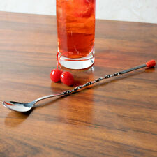 "BAR SPOON 11"" RED KNOB FREE SHIPPING USA ONLY"