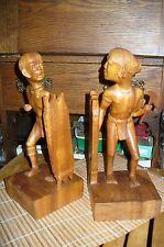 2 Vintage  Igorot ? Native Carvings Headhunters Philippines Folk Art -LOOK