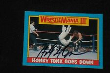 THE HONKY TONK MAN 1987 TOPPS WWF WRESTLING SIGNED AUTOGRAPHED CARD #52
