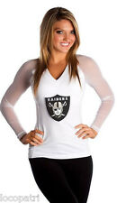 All Sport Couture NFL Womens Oakland Raiders Wildkat Shirt New MSRP $125 M