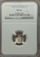1847 Danish West Indies 2 Skilling NGC MS 64 Superb Only 1 Finer at NGC