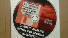 "Kurzweil ""Classic Analog Synth Collection"" On Back-Up Cd-Rom!!!!!"