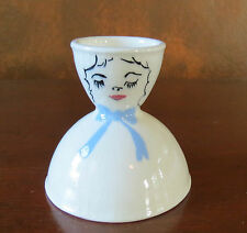 California Pottery Girl with a Bow Double Egg Cup