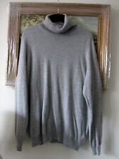 Grey 100% cashmere poloneck jumper Marks & Spencer size 20/22