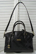 NWT TIGNANELLO GLAZED VINTAGE EMBOSSED LEATHER ZIP TOP SATCHEL, NAVY