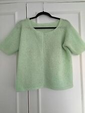 Womens Fashion Pastel Green Short Sleeve Knitwear Jumper/Top/ Cardigan Size M