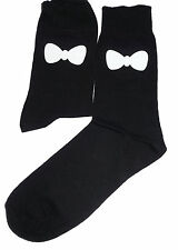 White Bow Tie Socks, Great Novelty Gift