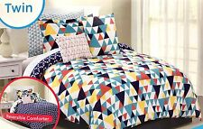 Twin Bed In A Bag 8pc Set Reversible comforter geometric shapes new in package