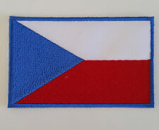 Czech Republic Flag Embroidered Sew/Iron On Patch Patches