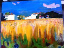 """BERTHOMME SAINT-ANDRE (1905-1977) Huile sur toile """"Le champs de blé"""" Datée 1948"""