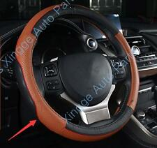 Brown Leather Steering Wheel Cover For Lexus NX300h NX200t CT200h 2015 A