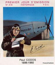 PAUL CODOS YtPA48  FRANCE  FDC Enveloppe Lettre Premier jour