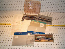 Mercedes 89 W124 300E/300CE Owner's 1 set of 10 Manual/Paper & MBZ Clear 1 Pouch