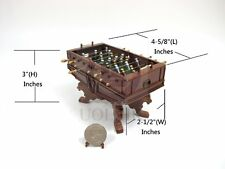 Miniature 1:12 Scale Table Football Game For Doll House[Made of wood]