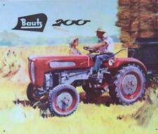 Älteres Blechschild Bautz 200 Diesel Traktor Reklame Werbung gebraucht used