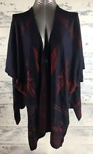 Do Everything in Love Wrap, open poncho, Woman's One size, hankercheif hem