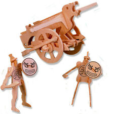 "3-D Wooden Puzzle - Small Twin-Bowed Wheel - Gift Item ""Brand New"""